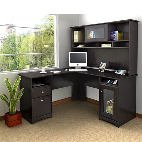 Corner L Shaped Office Desk White Flooring Ideas Wooden Wooden L Shaped Office Desk