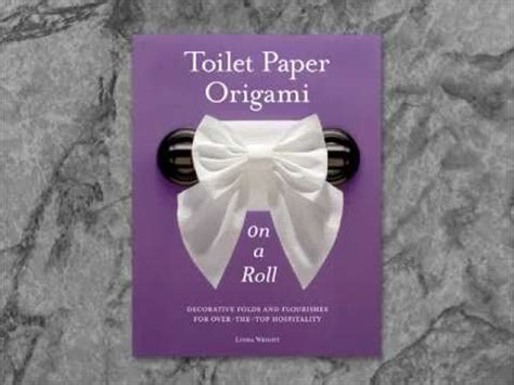 Toilet Paper Origami Book - fold crease smile view sles from toilet paper