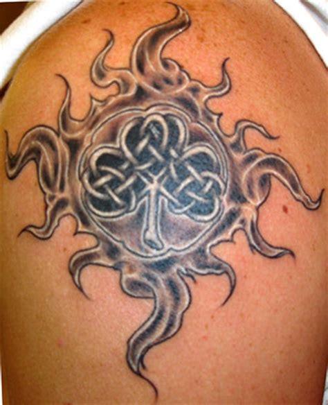 celtic sun tattoo celtic sun and moon with tribal celtic tattooed
