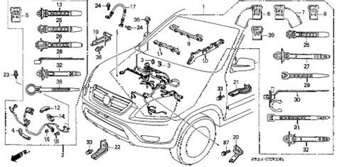 2003 honda crv parts diagram honda store 2003 crv engine wire harness parts