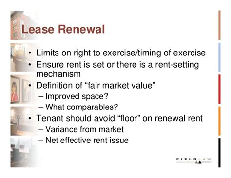 Commercial Lease Renewal Negotiation Letter Negotiating The Commercial Lease Slides