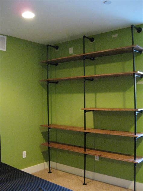 diy pipe shelving the overly detailed tutorial diy esq