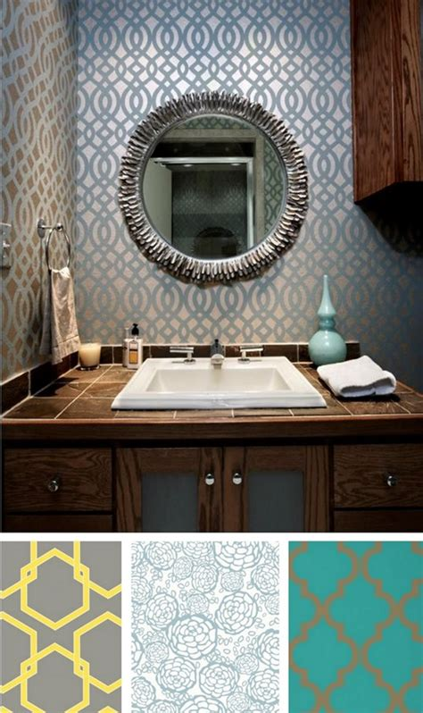 removable wallpaper for renters solutions for renters design series 10 creative bathroom