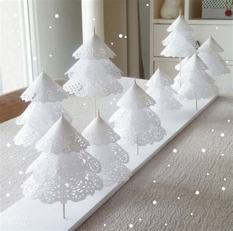 How To Make Doily Paper - doily paper tree tutorial the whoot