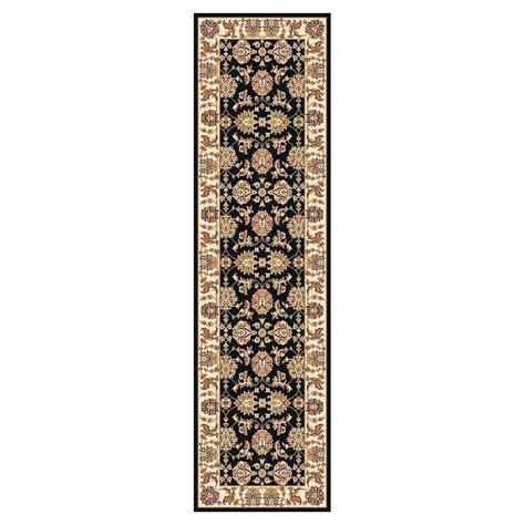 7 foot runner rug kas rugs traditional kashan black ivory 2 ft 2 in x 7 ft 11 in rug runner cam731322x711