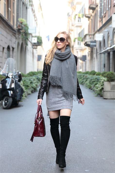 layers in milan leather jacket sweatshirt dress otk
