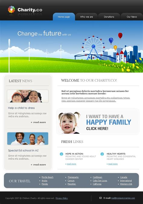 Charity Website Template Web Design Templates Website Templates Download Charity Website Charity Website Design Templates