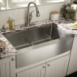 Kitchen With Farm Sink Schon 22 Quot Single Bowl Farmhouse Kitchen Sink Reviews Wayfair
