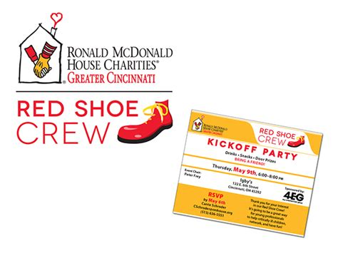 ronald mcdonald house cincinnati ronald mcdonald house cincinnati red shoe crew logo on behance