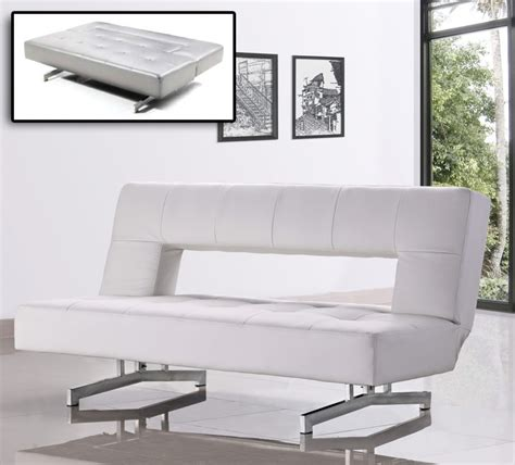 divani sofa bed divani casa wilshire modern fold out leatherette sofa bed