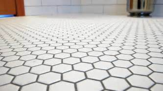 white hexagon glazed ceramic mosaic floor and wall tile