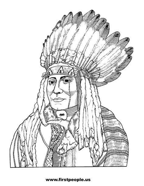 indian face coloring page free printable native american clipart 32