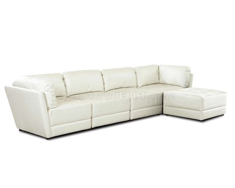 Modern Comfortable Sectional by White Bonded Leather Sectional W Comfortable