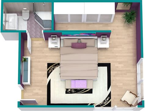 Design Kitchen Online 3d by Bedroom Floor Plan Roomsketcher