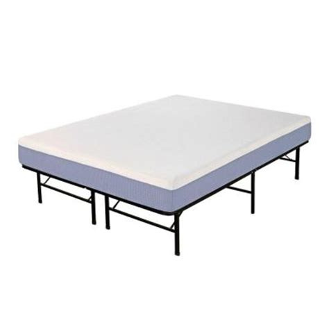 Boyd Bed Frame Boyd Specialty Sleep Foam King Size Memory Foam Mattress With Platform Frame Mepf8112ek