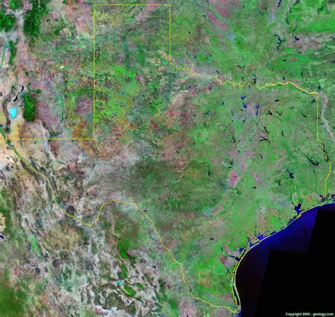 satellite map of texas texas satellite images landsat color image