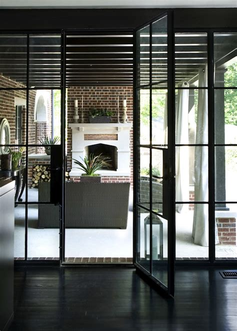 Glass And Steel Doors Steel Framed Patio Doors Transitional Deck Patio Hammersmith