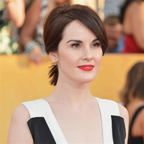 k michelle short hairstyles 2014 michelle dockery s hair and makeup at sag awards 2014