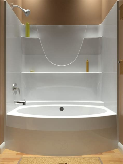 one piece bathtub enclosures bathtubs trendy kohler one piece tub shower enclosures