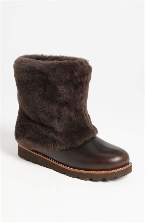 ugg maylin boot in brown stout leather lyst