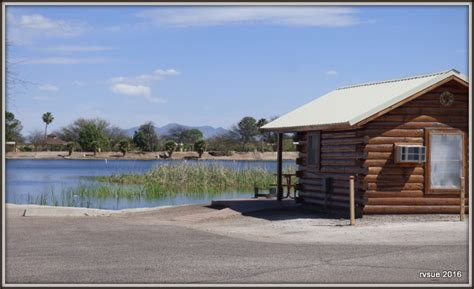 Roper Lake Cabins by Roper Lake State Park Safford Arizona Rvsue And