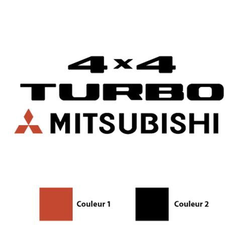Sticker Auto 4x4 by Sticker Mitsubishi 4x4 Turbo