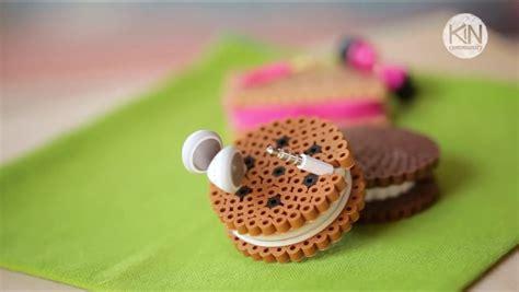 Set Earphone Macaron Holder cookie headphone holder perlerbeads