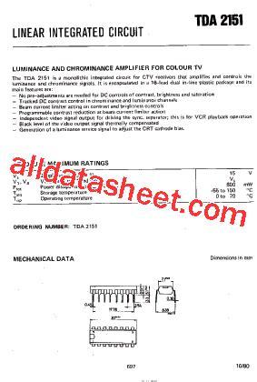 Kec Kia324p tda2151 データシート pdf nxp semiconductors