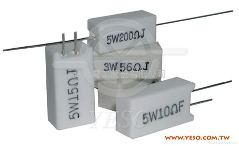 electric resistor cement cement type resistor product catalog taiwan ywh chau electric