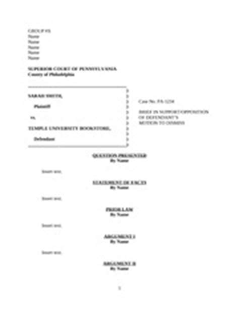 Deutscher Briefformat Brief Format Statement Of Facts By Name Insert Text Prior By Name Insert Text Argument I