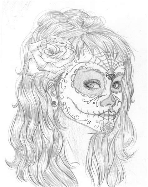 day of the dead face coloring pages jour des morts 50 f 234 tes et occasions sp 233 ciales
