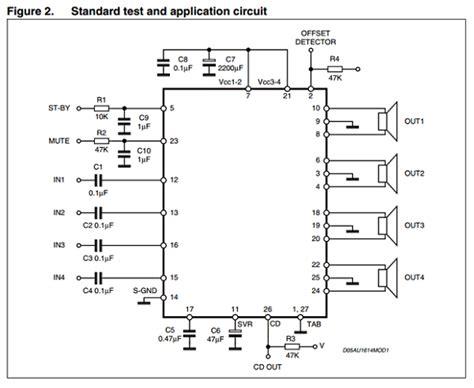 Tda7388 Tda 7388 4x41w Bridge Car Audio Lifier tda7388a datasheet bridge car radio lifier st