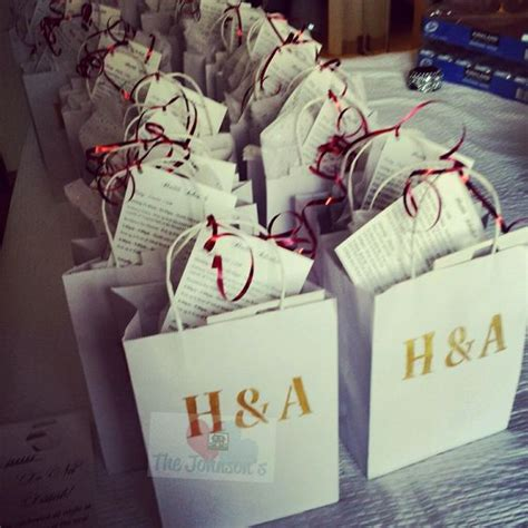 tutorial carding hotel diy wedding welcome gift bags for out of town guests