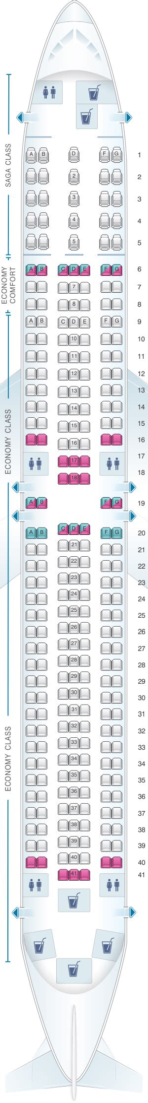 Icelandair 757 Seat Map Airplanes by Seat Map Icelandair Boeing B767 300er Seatmaestro