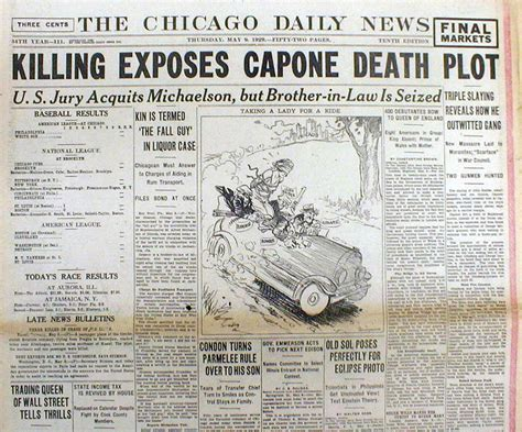al capone s wars a complete history of organized crime in chicago during prohibition books best 1929 chicago headline display newspaper al capone vs