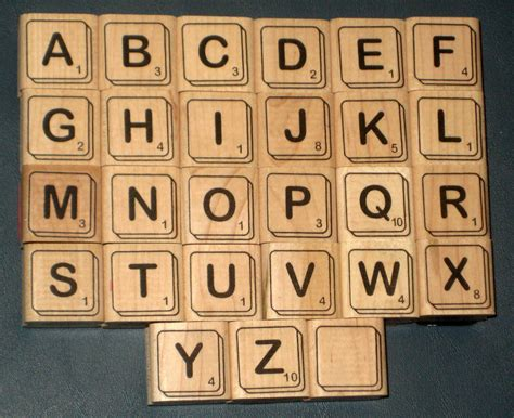 scrabble letter point values sold scrabble tiles rubber sters complete set alphabet