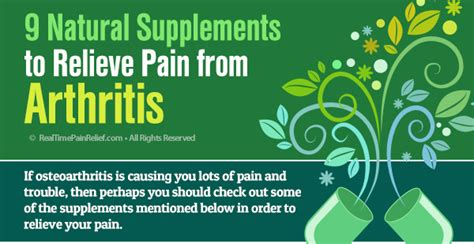 9 supplements for arthritis 9 supplements to relieve from arthritis