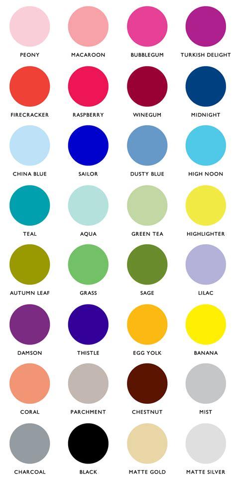 color pallate colour palette