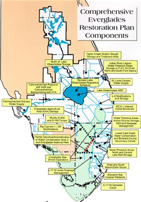 everglades restoration plans map courtesy of cerp