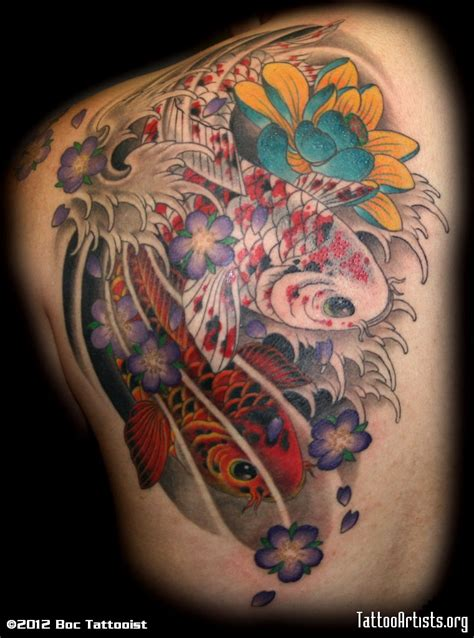 coy tattoo japanese koi fish artists org