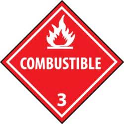 combustible 3 dot placard