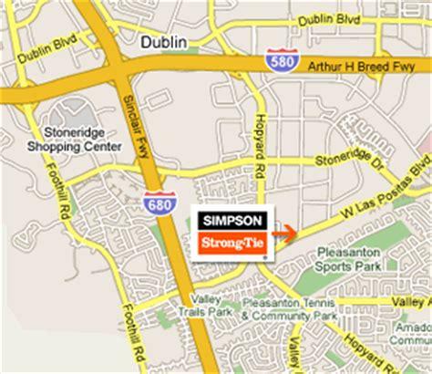 pleasanton california map directions to strong tie s pleasanton home office