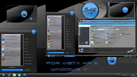 themes in black cat blackcat windows blind theme