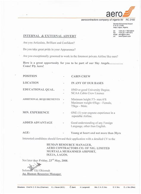 Cv In Cabin Crew Cover Letter Exles For Cabin Crew Cover Letter