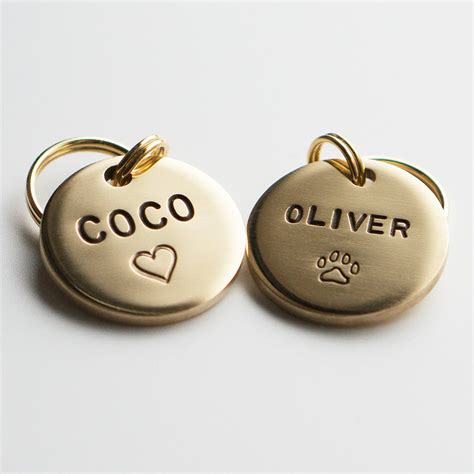 id tags for dogs tag pet id tag shaped tag brass customized