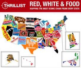food map of the united states and in n out the united states of fast food
