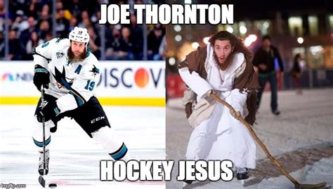 Joe Hockey Meme - image tagged in joe thornton hockey jesus imgflip