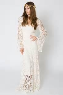 boho wedding dresses bell sleeve lace maxi dress bohemian wedding dresses