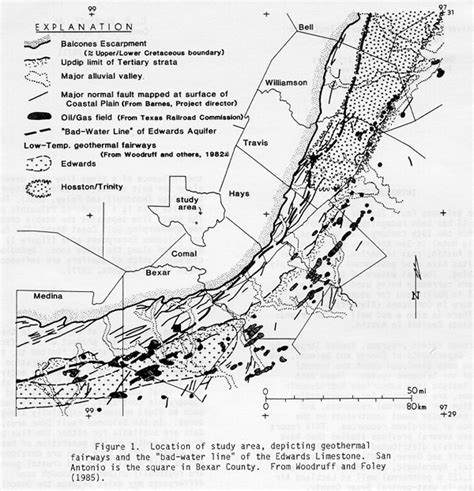 map of fault lines in texas balcones escarpment