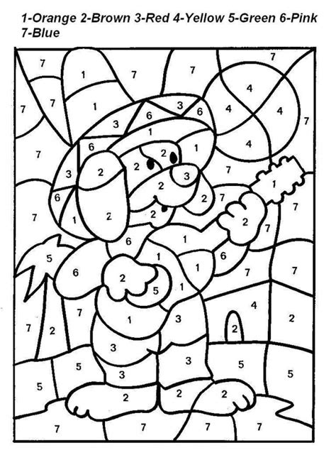 color by number worksheets free az coloring pages